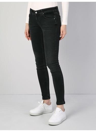 Colin's 757 Sally Süper Düşük Bel Dar Paça Super Slim Fit Siyah Kadın Jean Pantolon Siyah